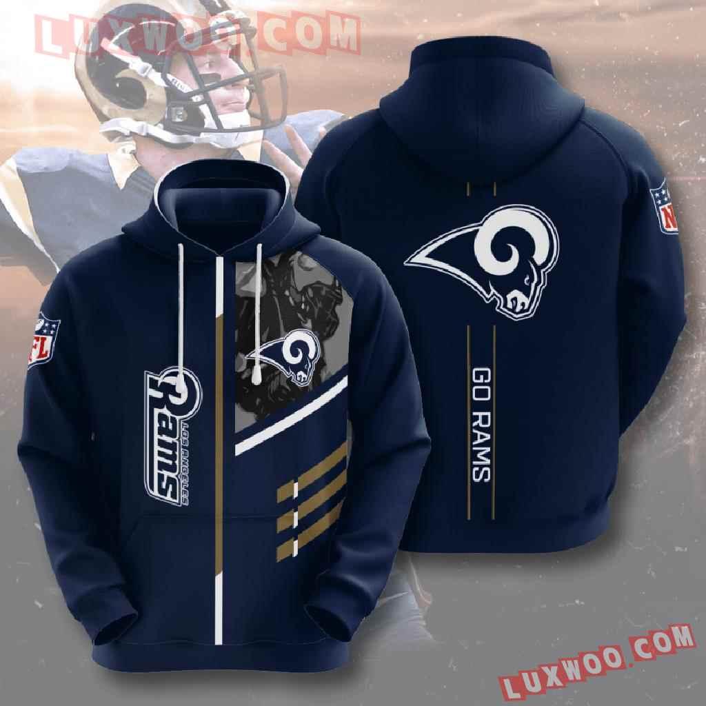 Nfl Los Angeles Rams 3d Hoodies Printed Zip Hoodies Sweatshirt Jacket V2