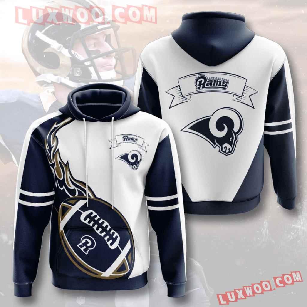 Nfl Los Angeles Rams 3d Hoodies Printed Zip Hoodies Sweatshirt Jacket V4