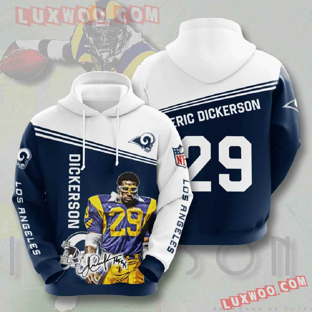 Nfl Los Angeles Rams 3d Hoodies Printed Zip Hoodies Sweatshirt Jacket V5