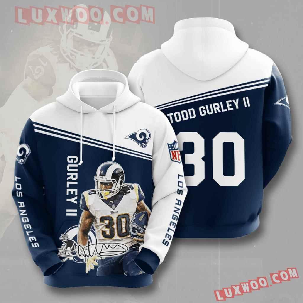 Nfl Los Angeles Rams 3d Hoodies Printed Zip Hoodies Sweatshirt Jacket V6