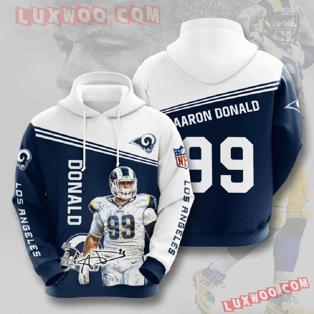 Nfl Los Angeles Rams 3d Hoodies Printed Zip Hoodies Sweatshirt Jacket V7