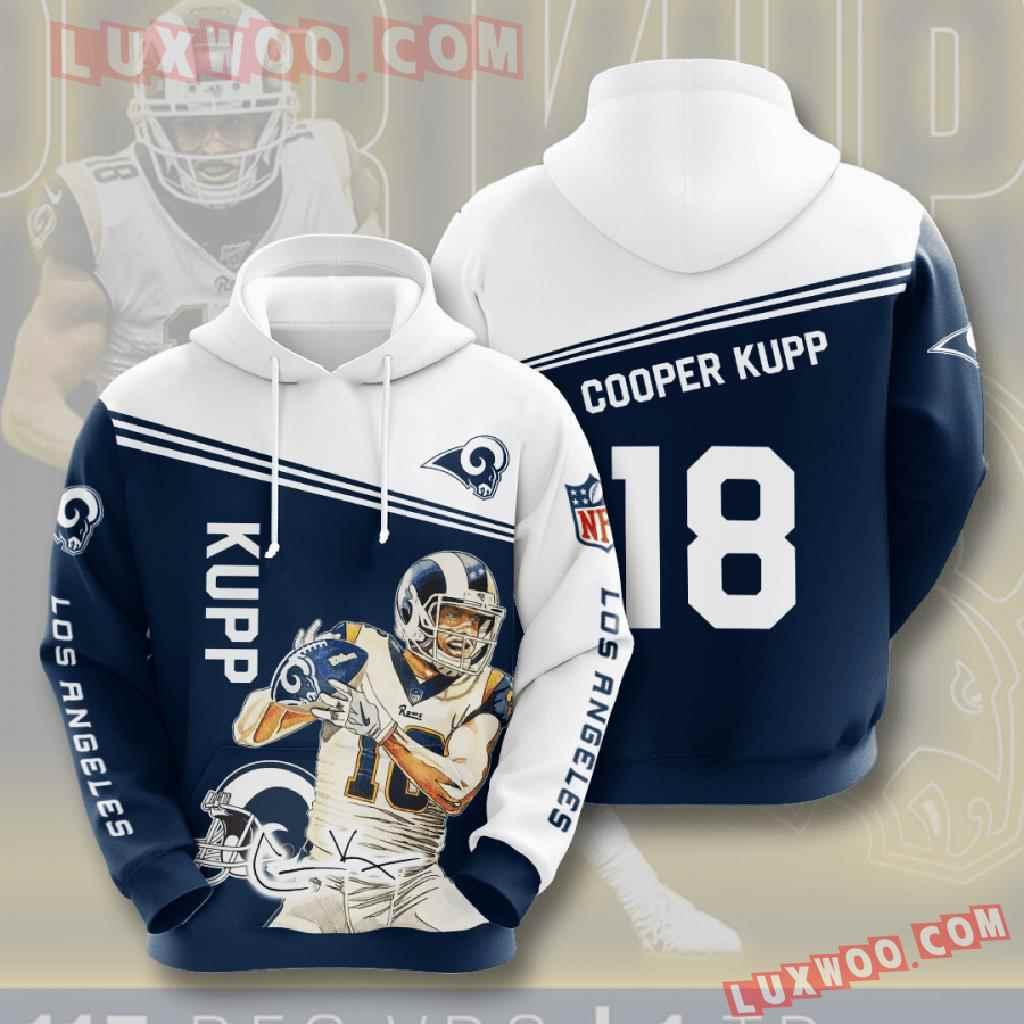 Nfl Los Angeles Rams 3d Hoodies Printed Zip Hoodies Sweatshirt Jacket V8