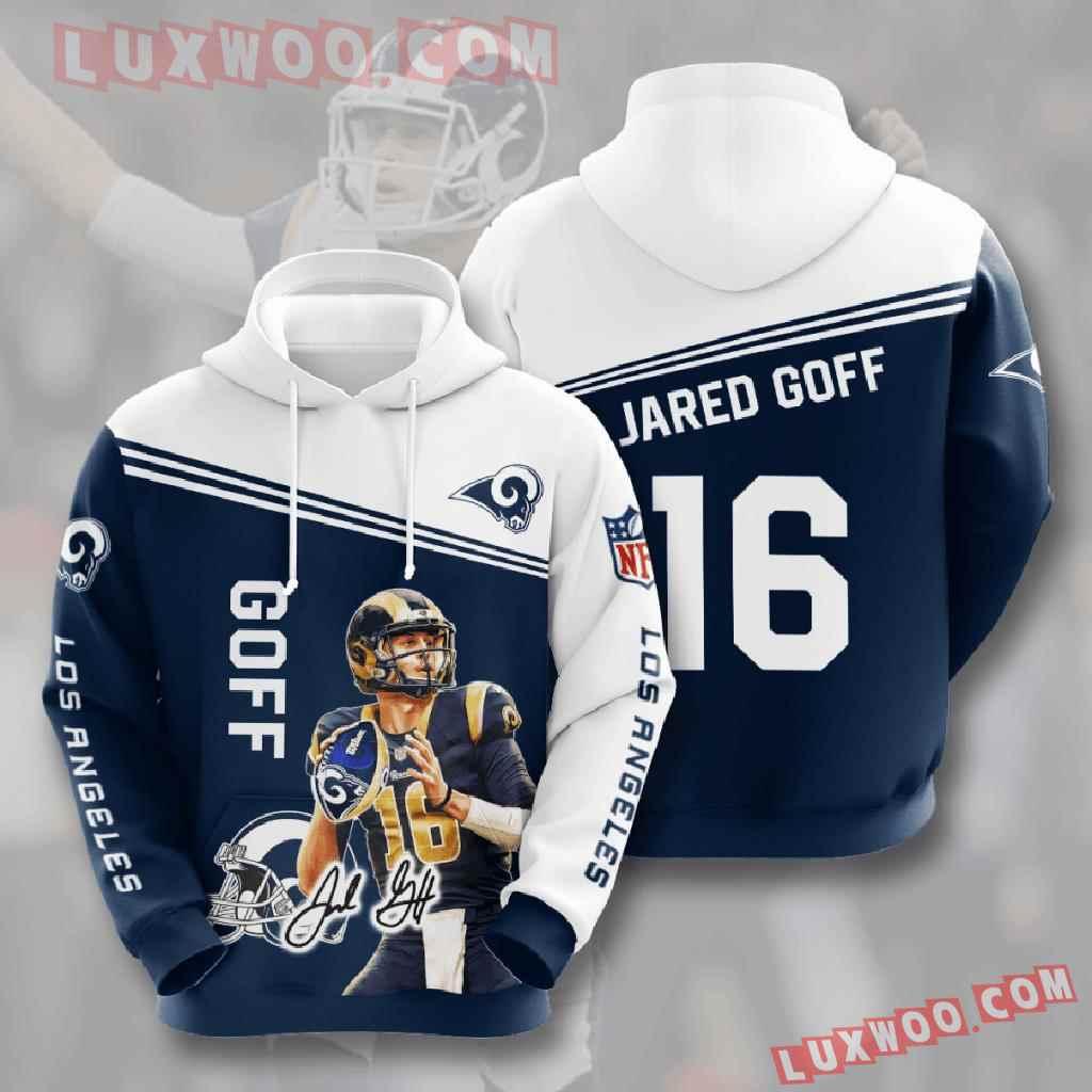 Nfl Los Angeles Rams 3d Hoodies Printed Zip Hoodies Sweatshirt Jacket V9
