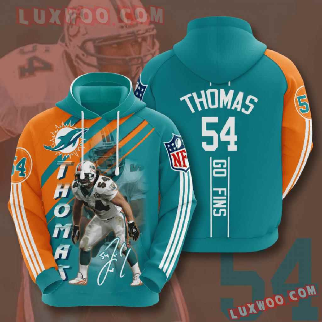 Nfl Miami Dolphins 3d Hoodies Printed Zip Hoodies Sweatshirt Jacket V11