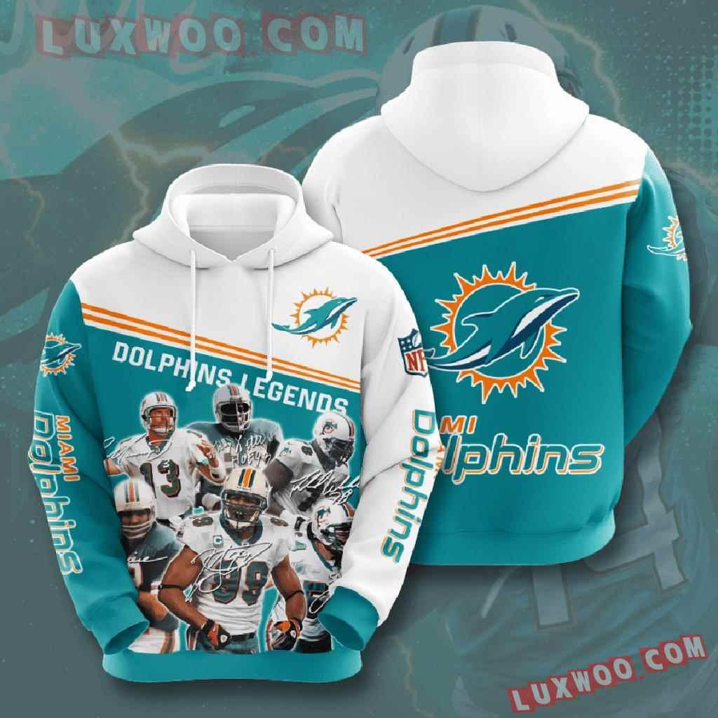 Nfl Miami Dolphins 3d Hoodies Printed Zip Hoodies Sweatshirt Jacket V12