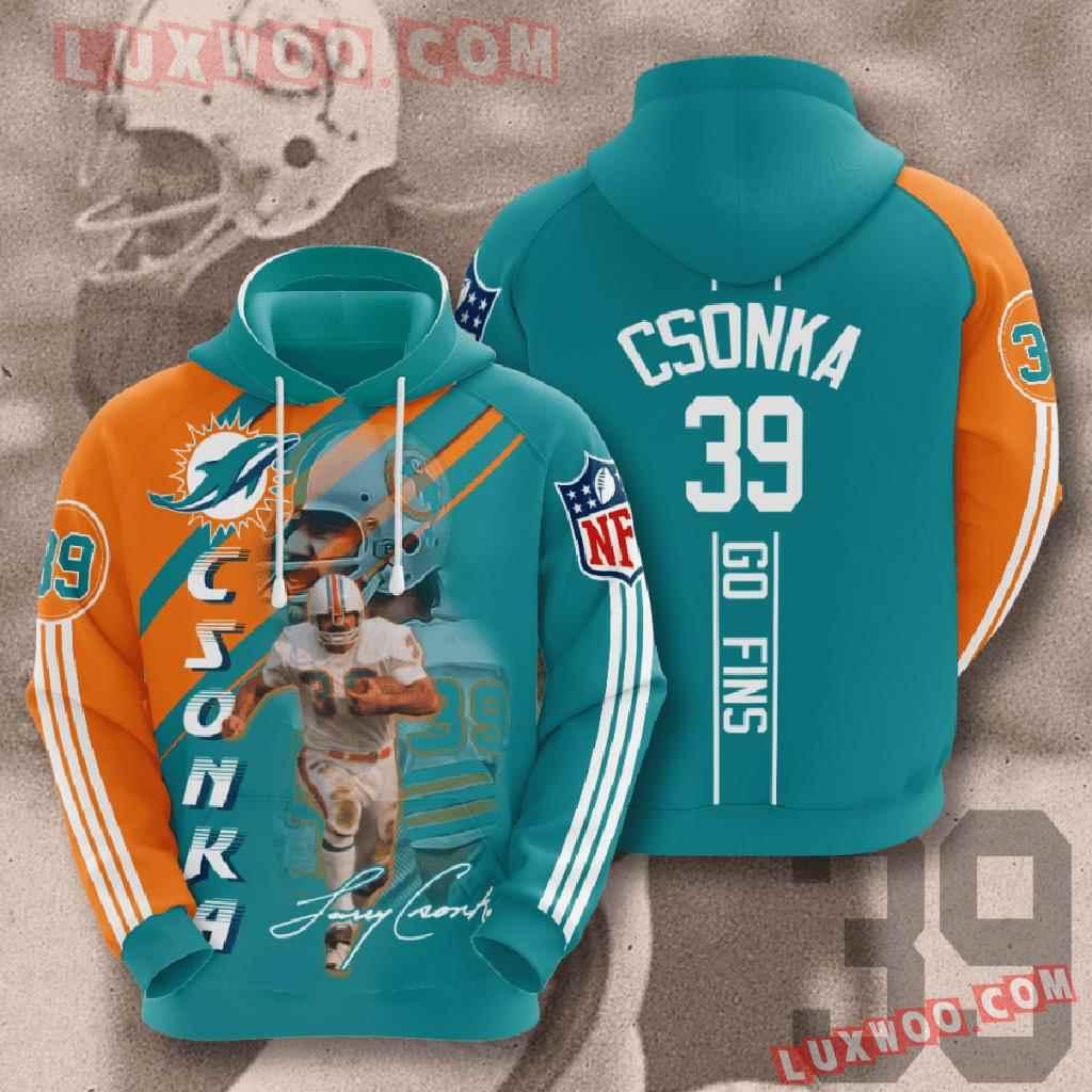Nfl Miami Dolphins 3d Hoodies Printed Zip Hoodies Sweatshirt Jacket V14