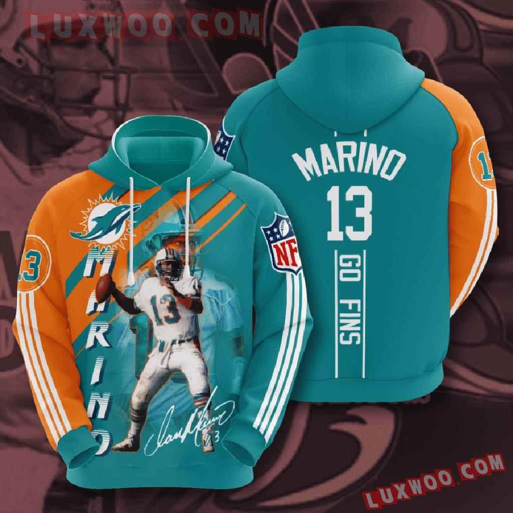 Nfl Miami Dolphins 3d Hoodies Printed Zip Hoodies Sweatshirt Jacket V15