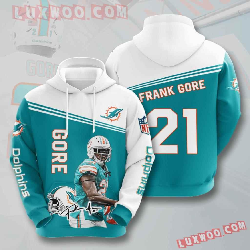 Nfl Miami Dolphins 3d Hoodies Printed Zip Hoodies Sweatshirt Jacket V5