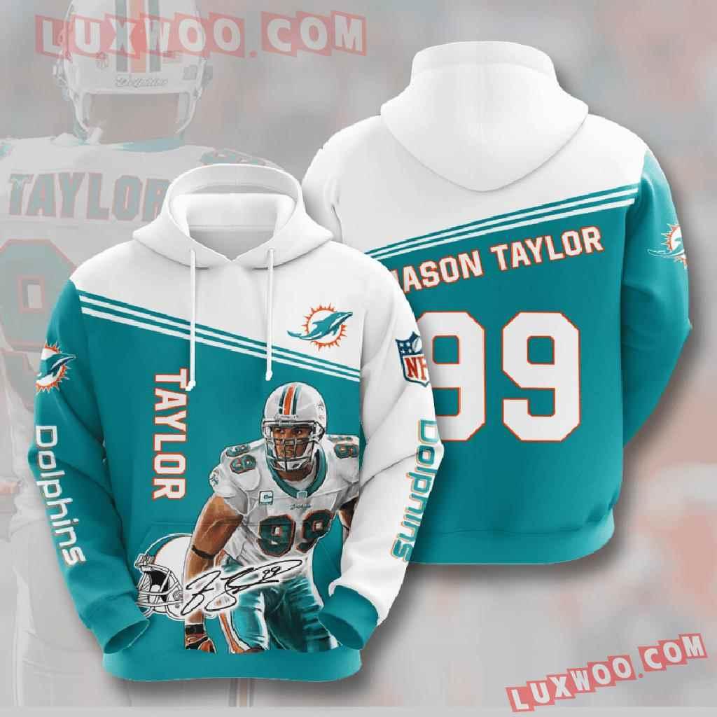 Nfl Miami Dolphins 3d Hoodies Printed Zip Hoodies Sweatshirt Jacket V7