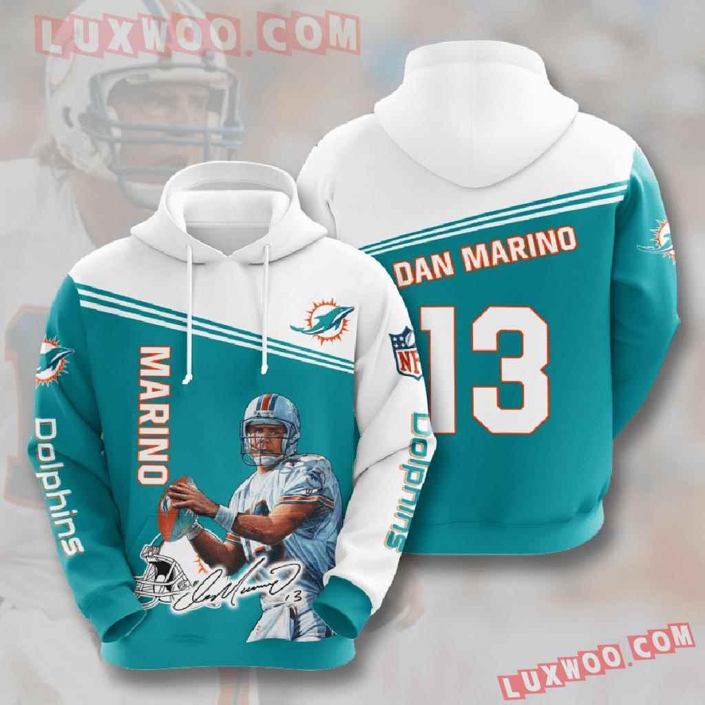 Nfl Miami Dolphins 3d Hoodies Printed Zip Hoodies Sweatshirt Jacket V9