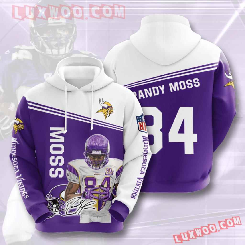 Nfl Minnesota Vikings 3d Hoodies Printed Zip Hoodies Sweatshirt Jacket V1