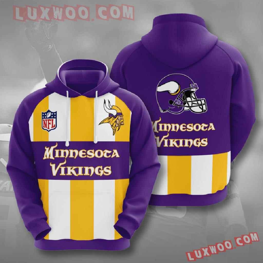 Nfl Minnesota Vikings 3d Hoodies Printed Zip Hoodies Sweatshirt Jacket V11