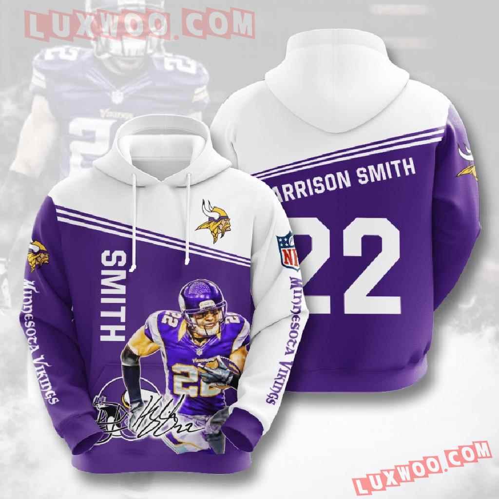 Nfl Minnesota Vikings 3d Hoodies Printed Zip Hoodies Sweatshirt Jacket V13