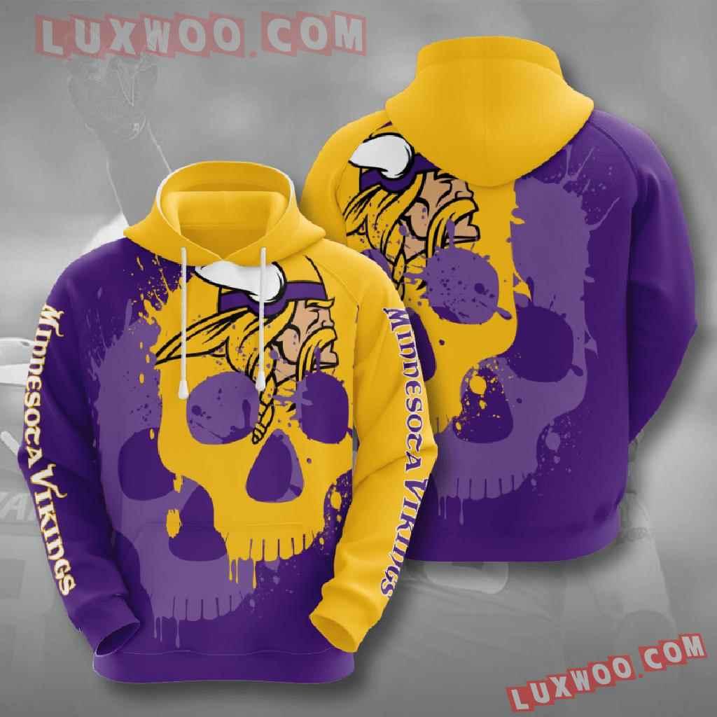 Nfl Minnesota Vikings 3d Hoodies Printed Zip Hoodies Sweatshirt Jacket V15