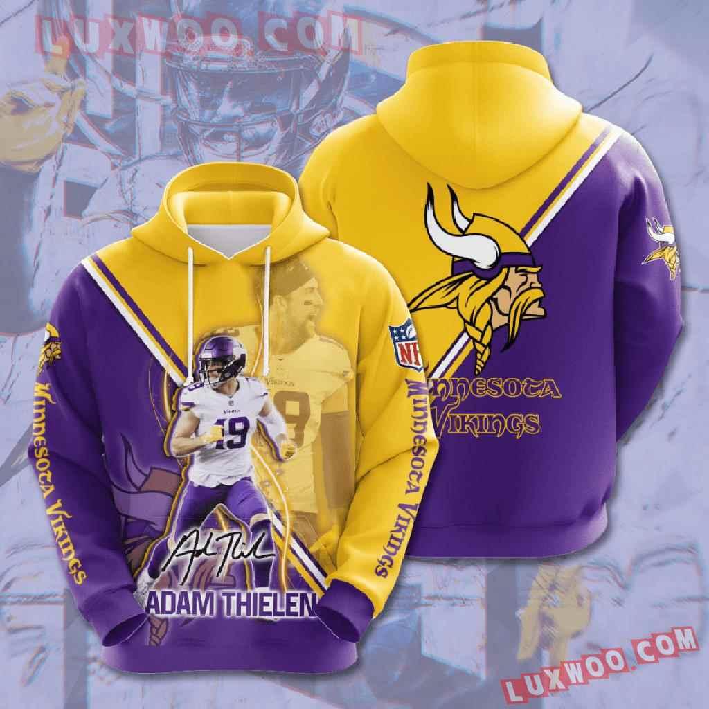 Nfl Minnesota Vikings 3d Hoodies Printed Zip Hoodies Sweatshirt Jacket V17