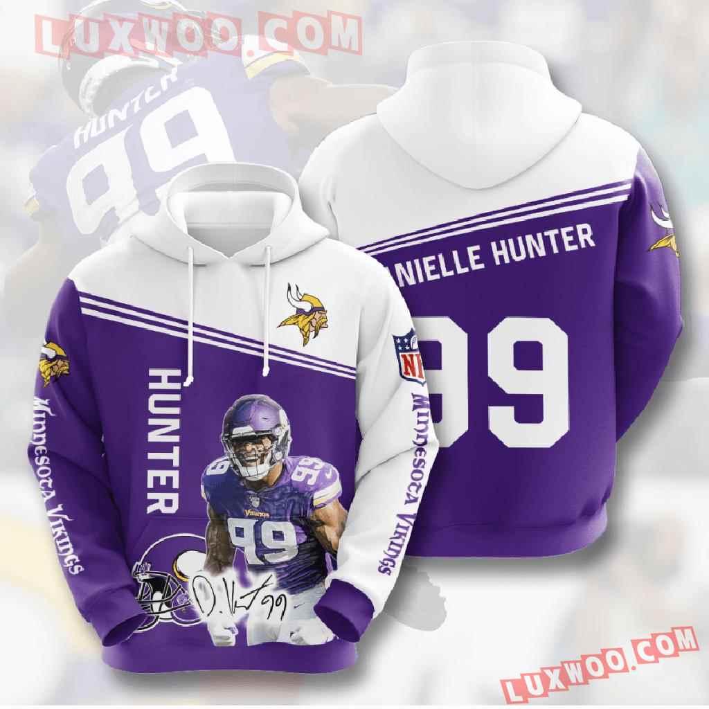 Nfl Minnesota Vikings 3d Hoodies Printed Zip Hoodies Sweatshirt Jacket V18