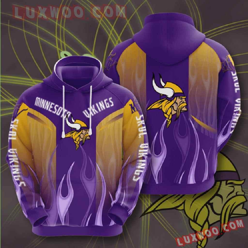 Nfl Minnesota Vikings 3d Hoodies Printed Zip Hoodies Sweatshirt Jacket V21