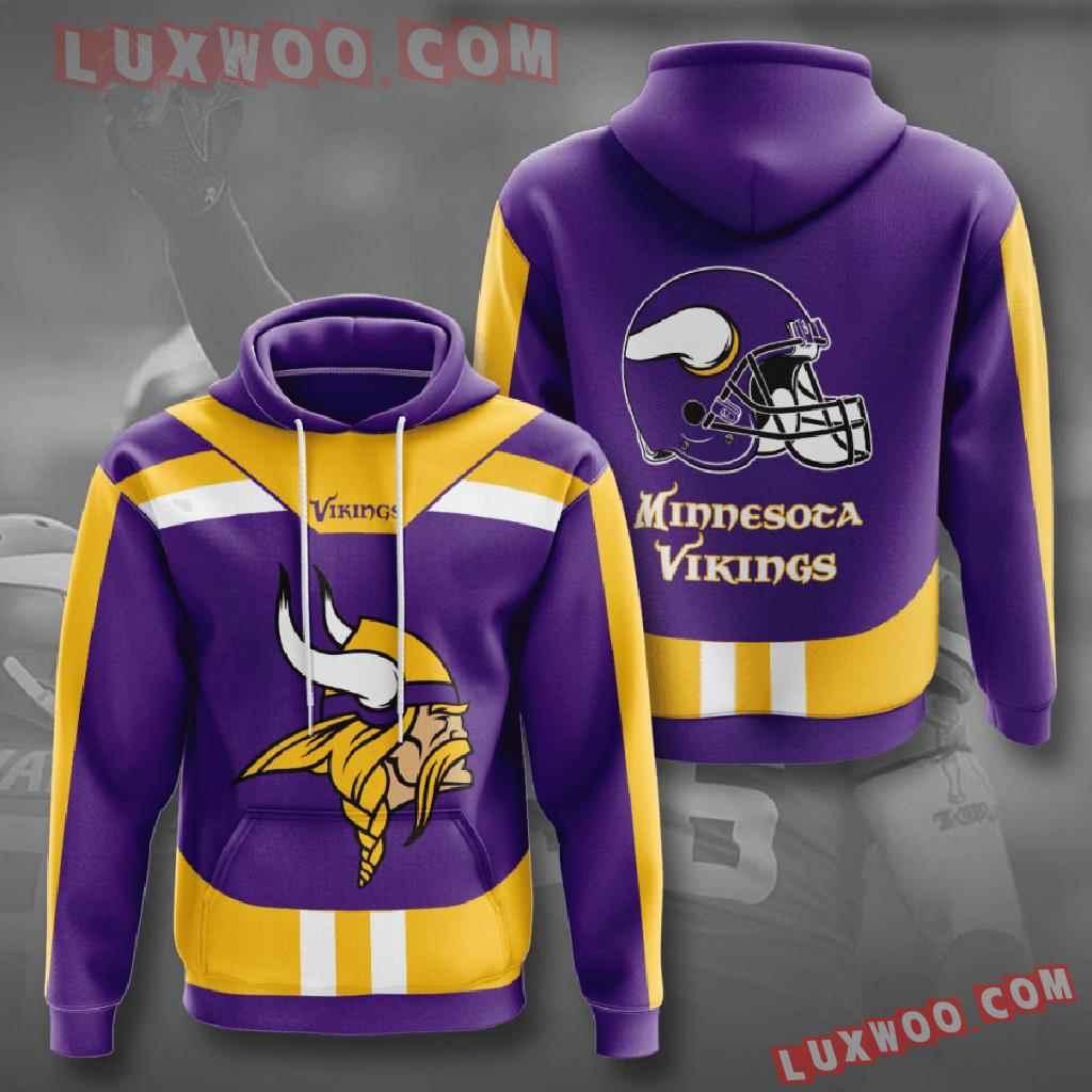 Nfl Minnesota Vikings 3d Hoodies Printed Zip Hoodies Sweatshirt Jacket V22