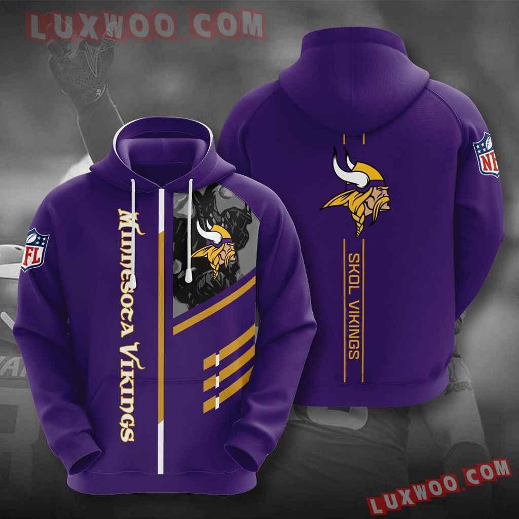 Nfl Minnesota Vikings 3d Hoodies Printed Zip Hoodies Sweatshirt Jacket V23