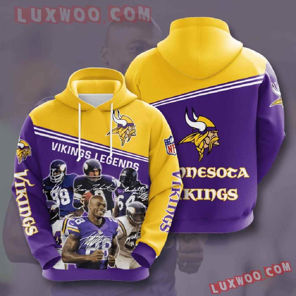 Nfl Minnesota Vikings 3d Hoodies Printed Zip Hoodies Sweatshirt Jacket V25