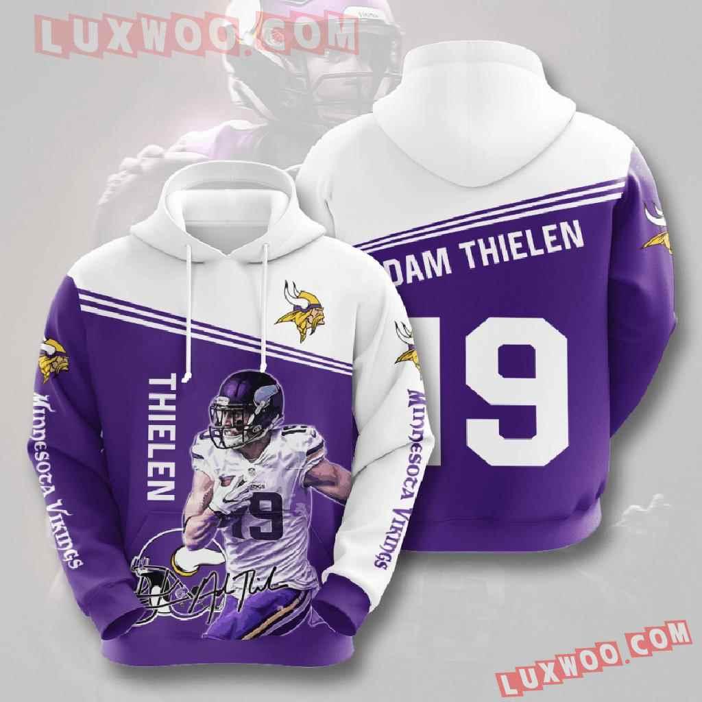 Nfl Minnesota Vikings 3d Hoodies Printed Zip Hoodies Sweatshirt Jacket V28