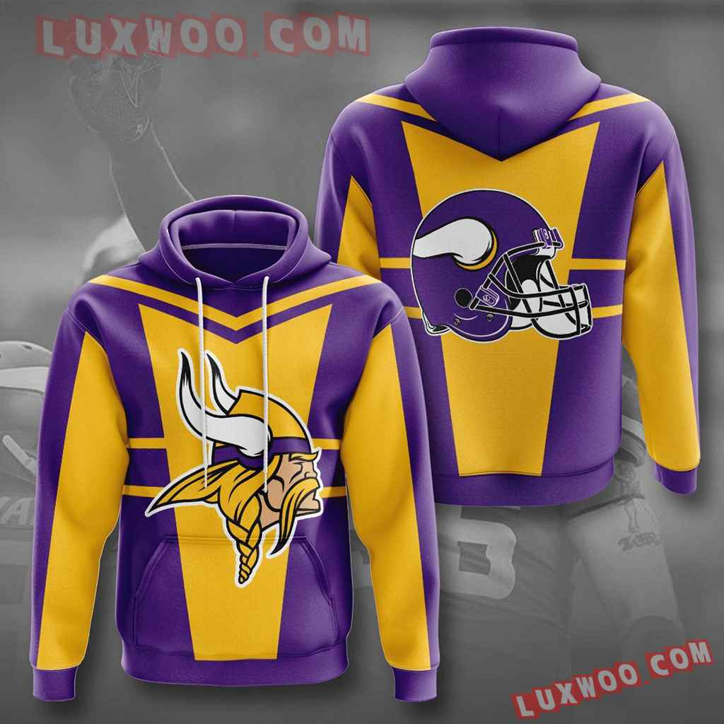 Nfl Minnesota Vikings 3d Hoodies Printed Zip Hoodies Sweatshirt Jacket V29