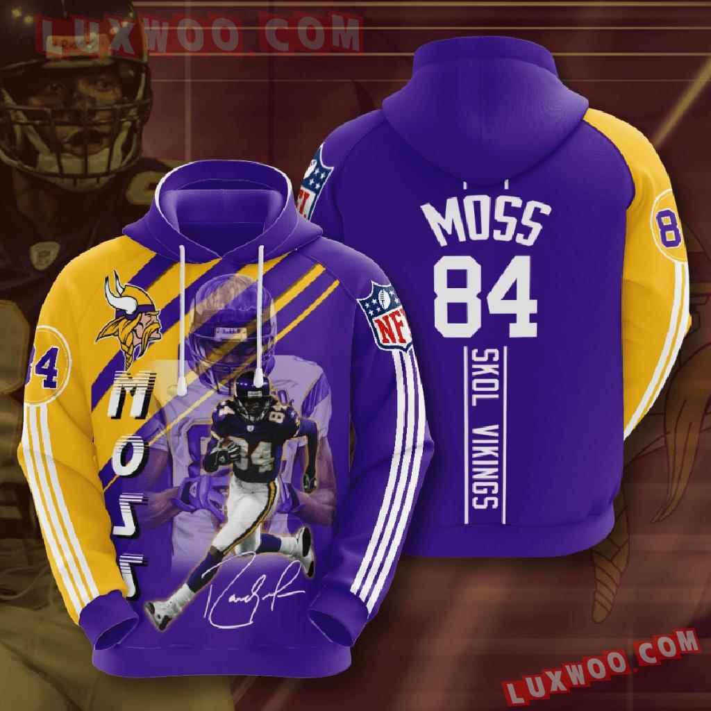 Nfl Minnesota Vikings 3d Hoodies Printed Zip Hoodies Sweatshirt Jacket V30