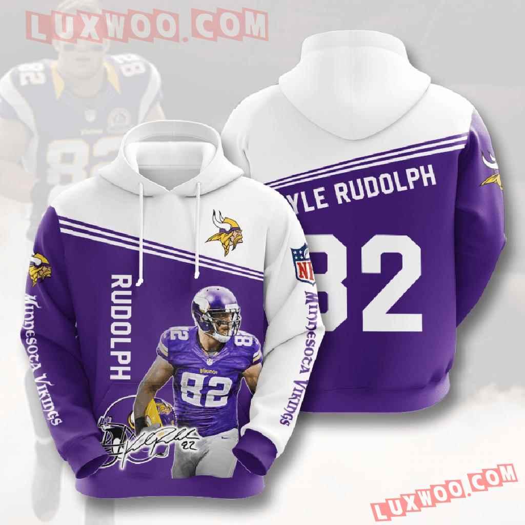 Nfl Minnesota Vikings 3d Hoodies Printed Zip Hoodies Sweatshirt Jacket V6
