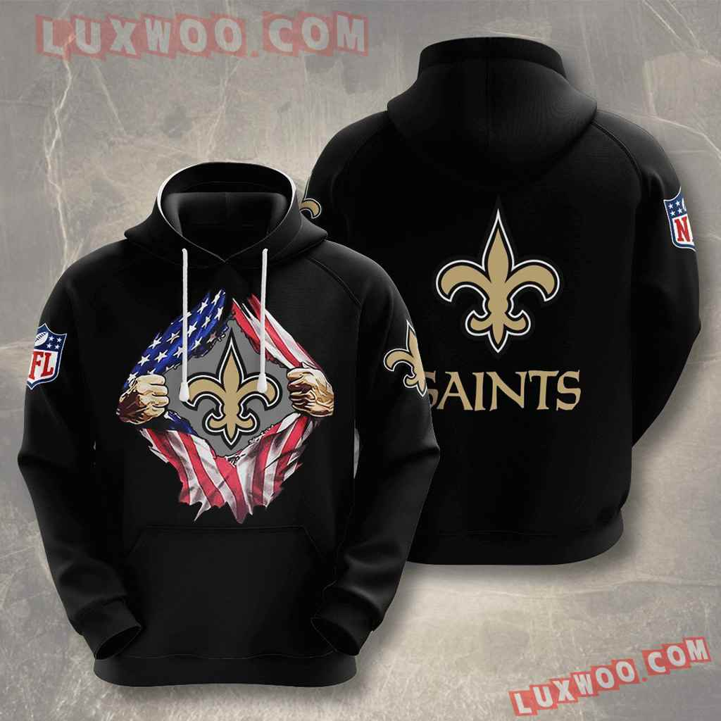 Nfl New Orleans Saints 3d Hoodies Printed Zip Hoodies Sweatshirt Jacket V1