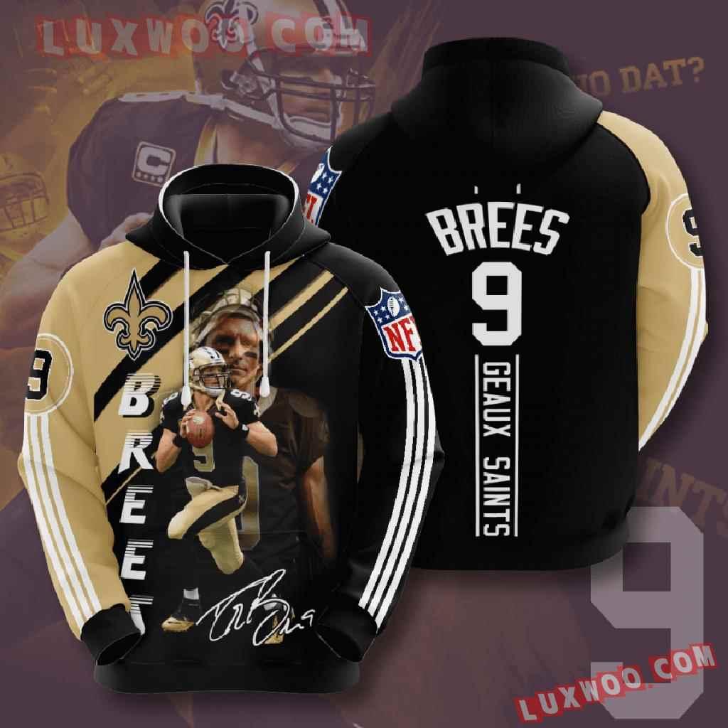 Nfl New Orleans Saints 3d Hoodies Printed Zip Hoodies Sweatshirt Jacket V11
