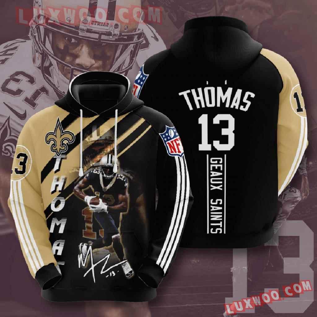 Nfl New Orleans Saints 3d Hoodies Printed Zip Hoodies Sweatshirt Jacket V12
