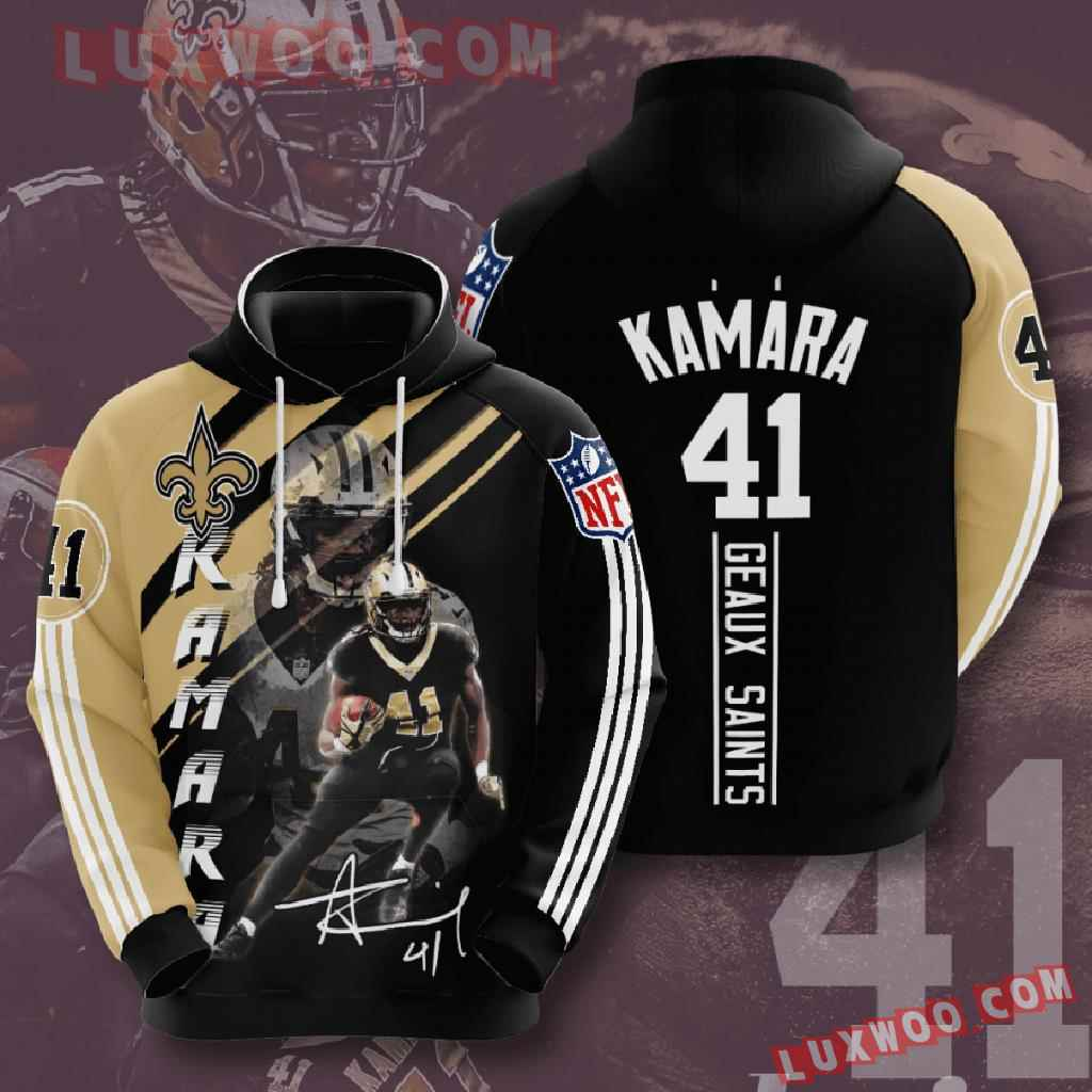 Nfl New Orleans Saints 3d Hoodies Printed Zip Hoodies Sweatshirt Jacket V13