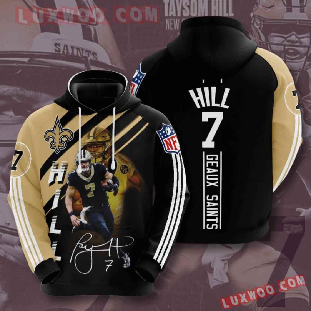 Nfl New Orleans Saints 3d Hoodies Printed Zip Hoodies Sweatshirt Jacket V14