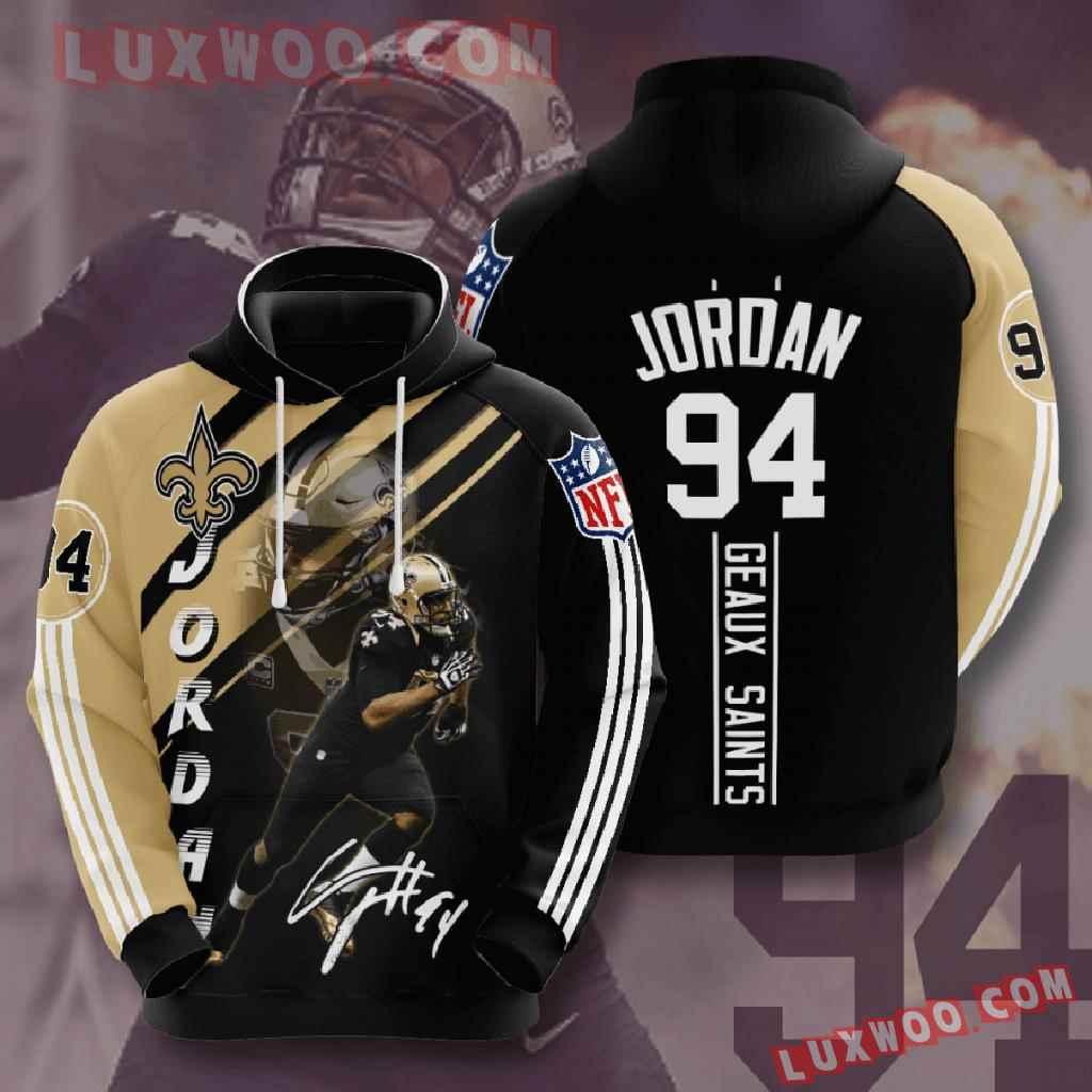 Nfl New Orleans Saints 3d Hoodies Printed Zip Hoodies Sweatshirt Jacket V15