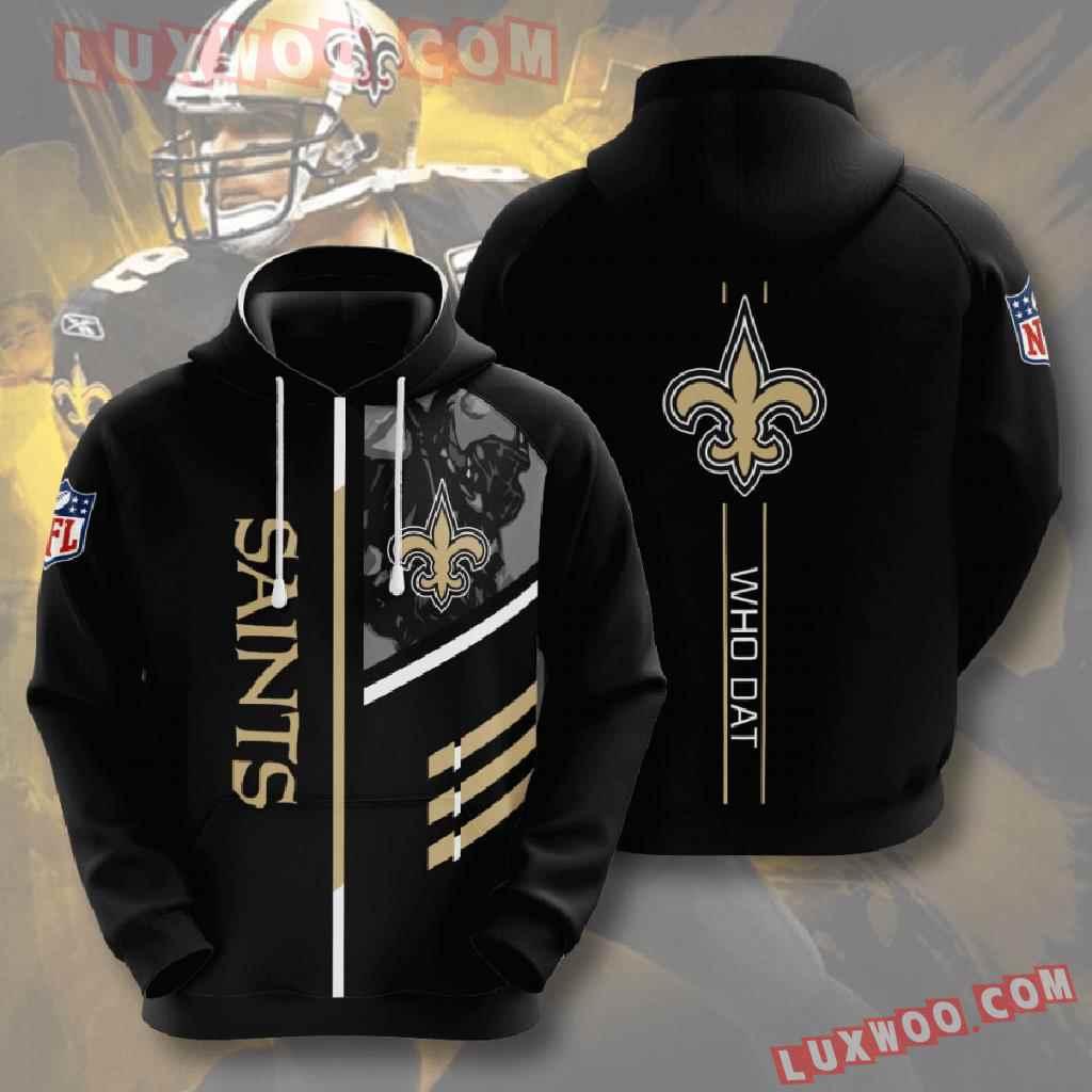 Nfl New Orleans Saints 3d Hoodies Printed Zip Hoodies Sweatshirt Jacket V2