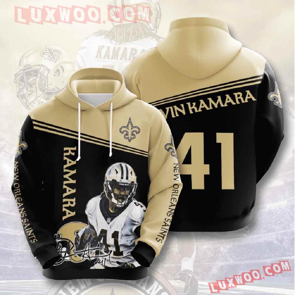 Nfl New Orleans Saints 3d Hoodies Printed Zip Hoodies Sweatshirt Jacket V6