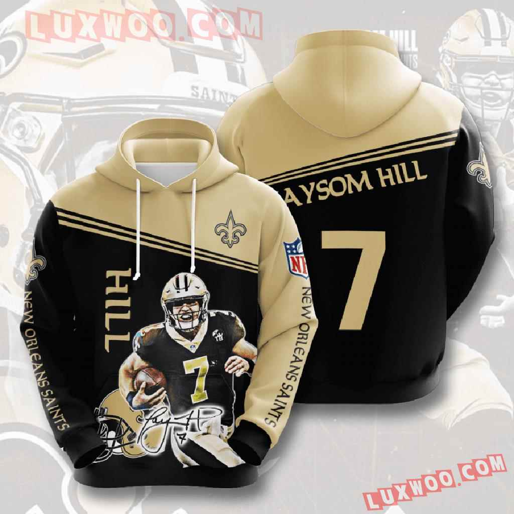 Nfl New Orleans Saints 3d Hoodies Printed Zip Hoodies Sweatshirt Jacket V8