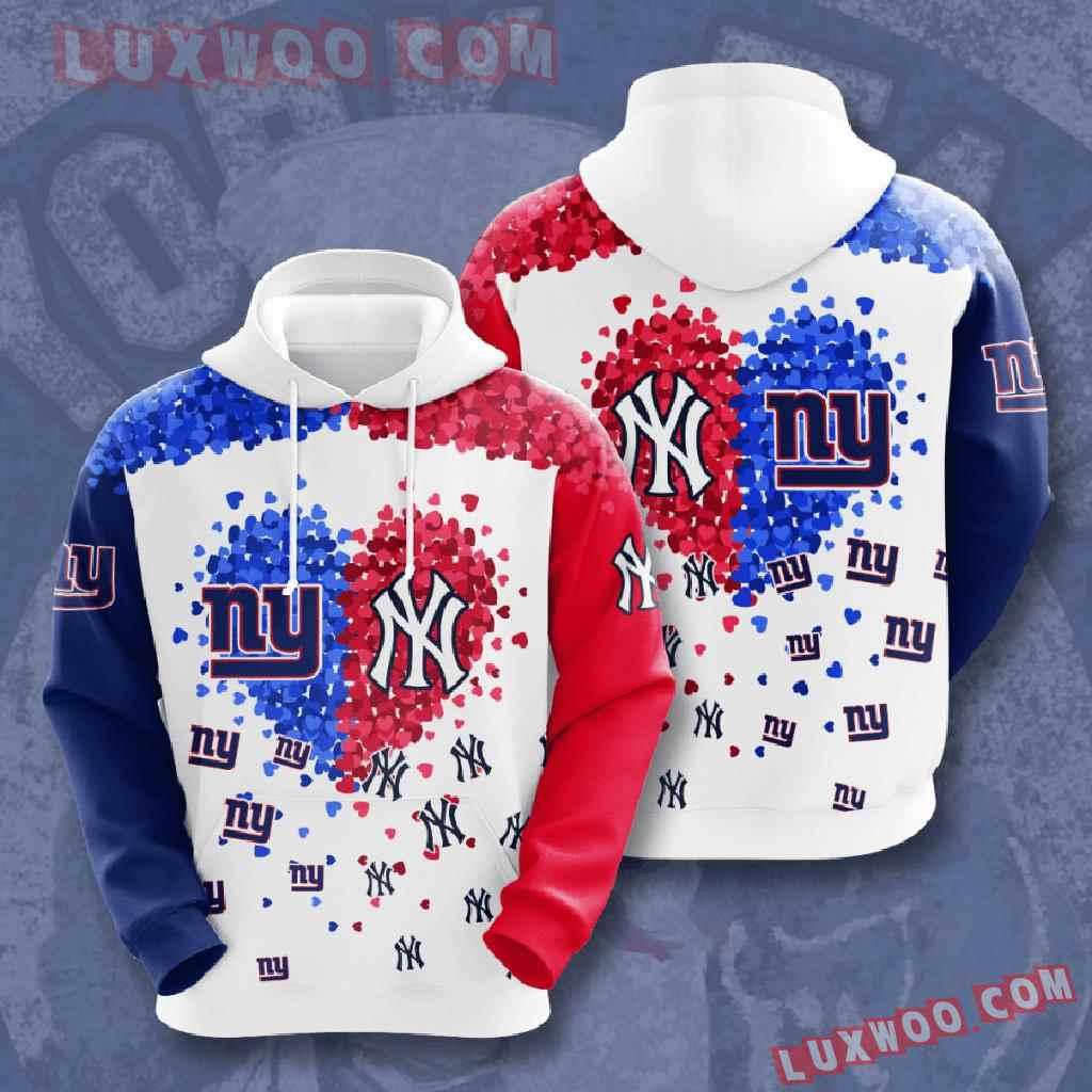 Nfl New York Giants 3d Hoodies Printed Zip Hoodies Sweatshirt Jacket V1
