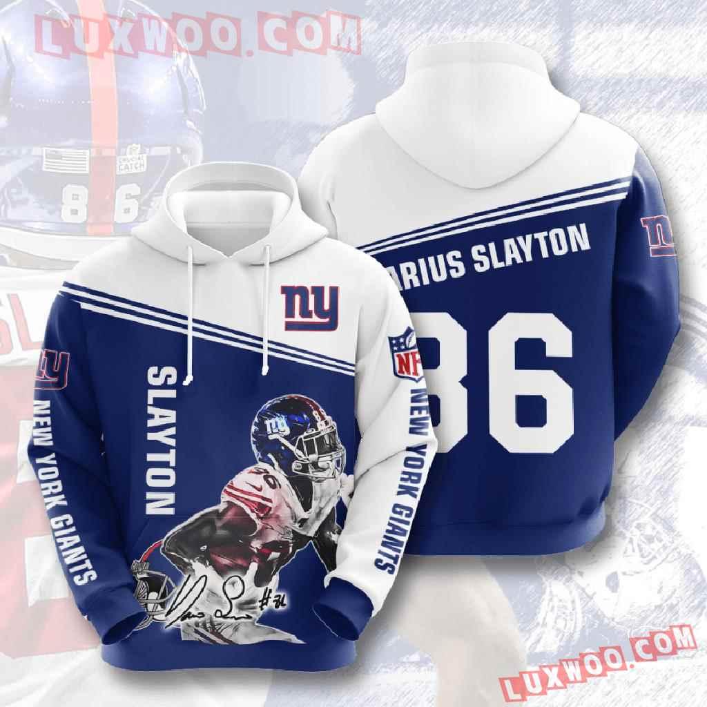 Nfl New York Giants 3d Hoodies Printed Zip Hoodies Sweatshirt Jacket V11