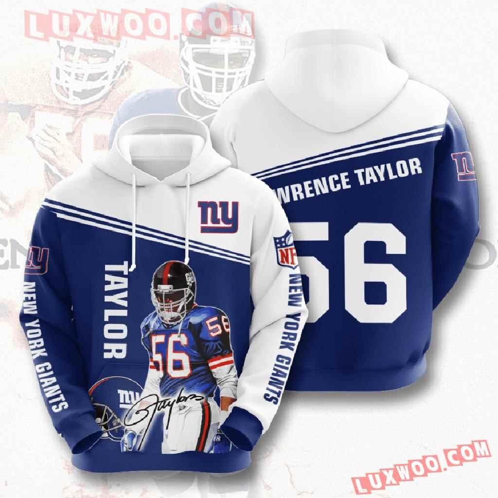 Nfl New York Giants 3d Hoodies Printed Zip Hoodies Sweatshirt Jacket V12