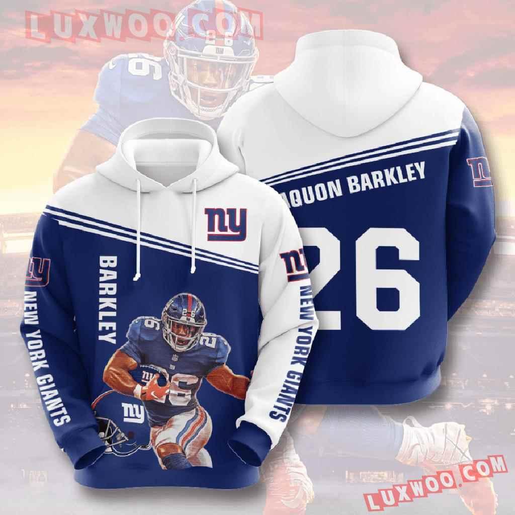 Nfl New York Giants 3d Hoodies Printed Zip Hoodies Sweatshirt Jacket V15