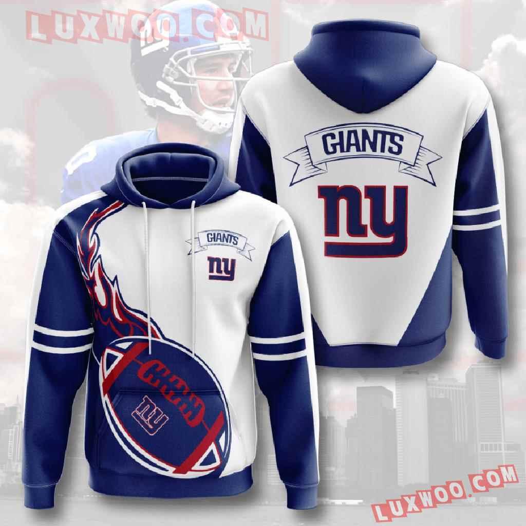 Nfl New York Giants 3d Hoodies Printed Zip Hoodies Sweatshirt Jacket V16