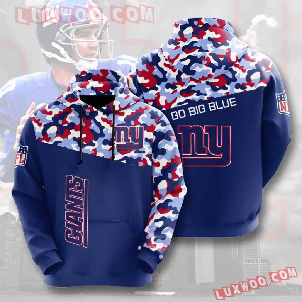 Nfl New York Giants 3d Hoodies Printed Zip Hoodies Sweatshirt Jacket V17