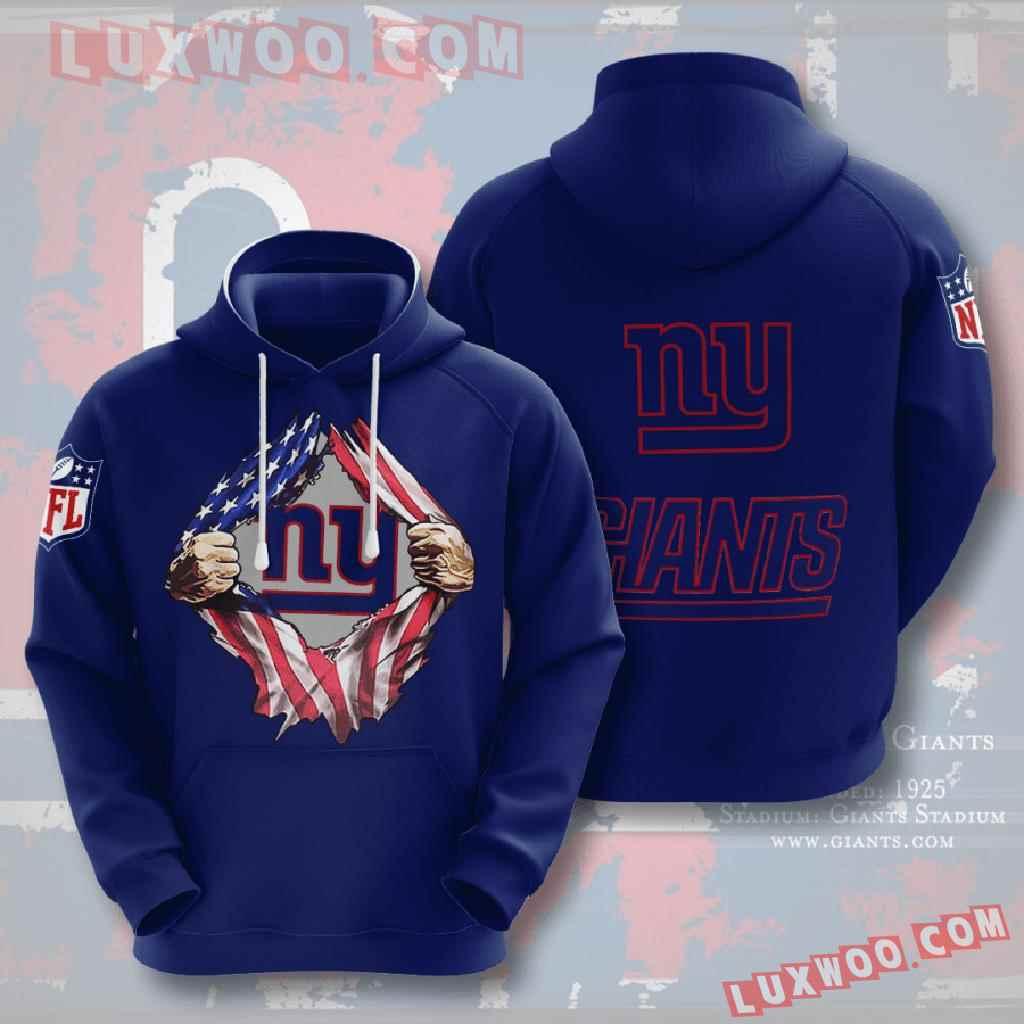 Nfl New York Giants 3d Hoodies Printed Zip Hoodies Sweatshirt Jacket V18