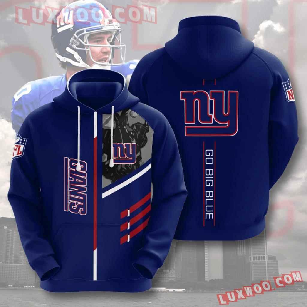 Nfl New York Giants 3d Hoodies Printed Zip Hoodies Sweatshirt Jacket V19