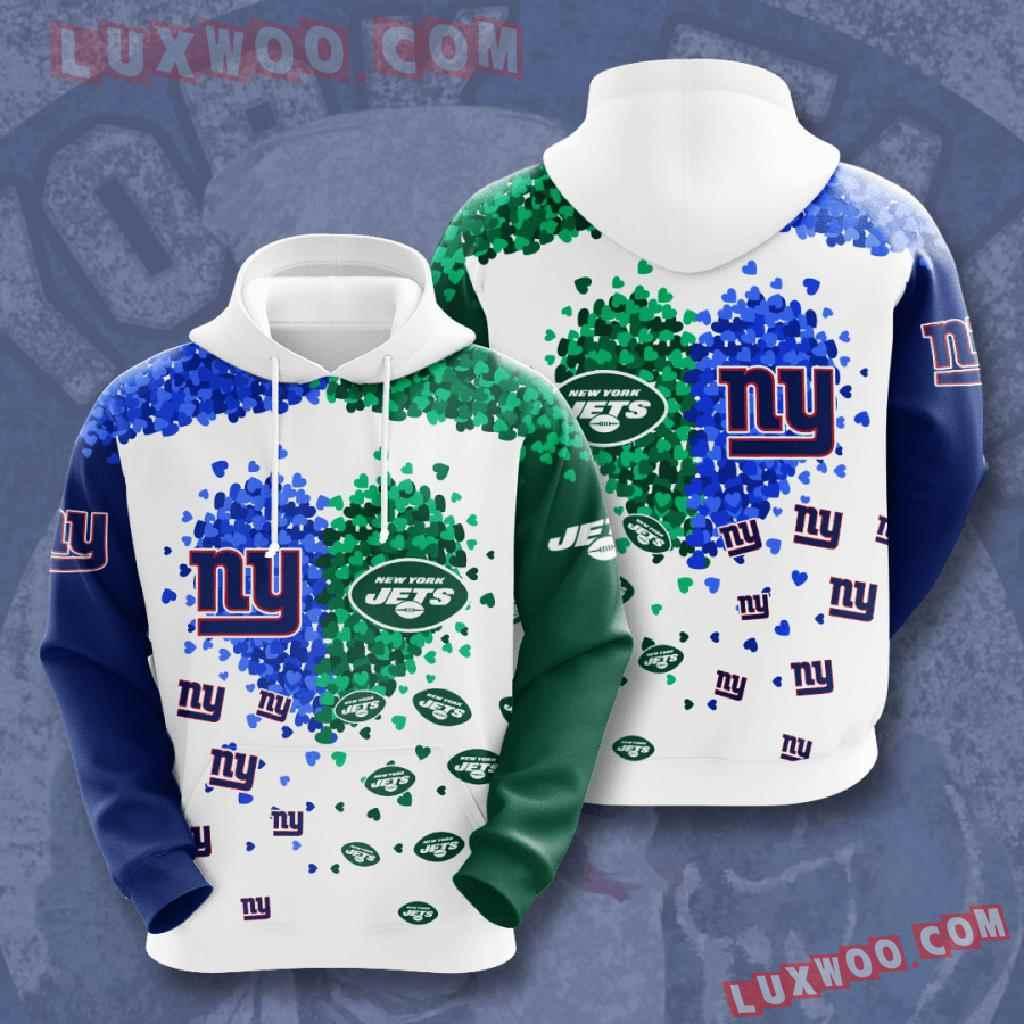 Nfl New York Giants 3d Hoodies Printed Zip Hoodies Sweatshirt Jacket V2