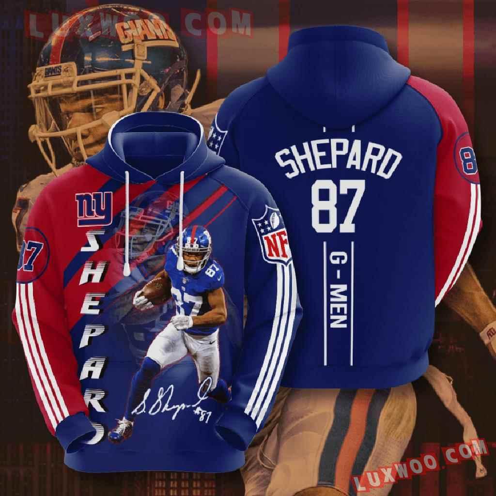 Nfl New York Giants 3d Hoodies Printed Zip Hoodies Sweatshirt Jacket V4
