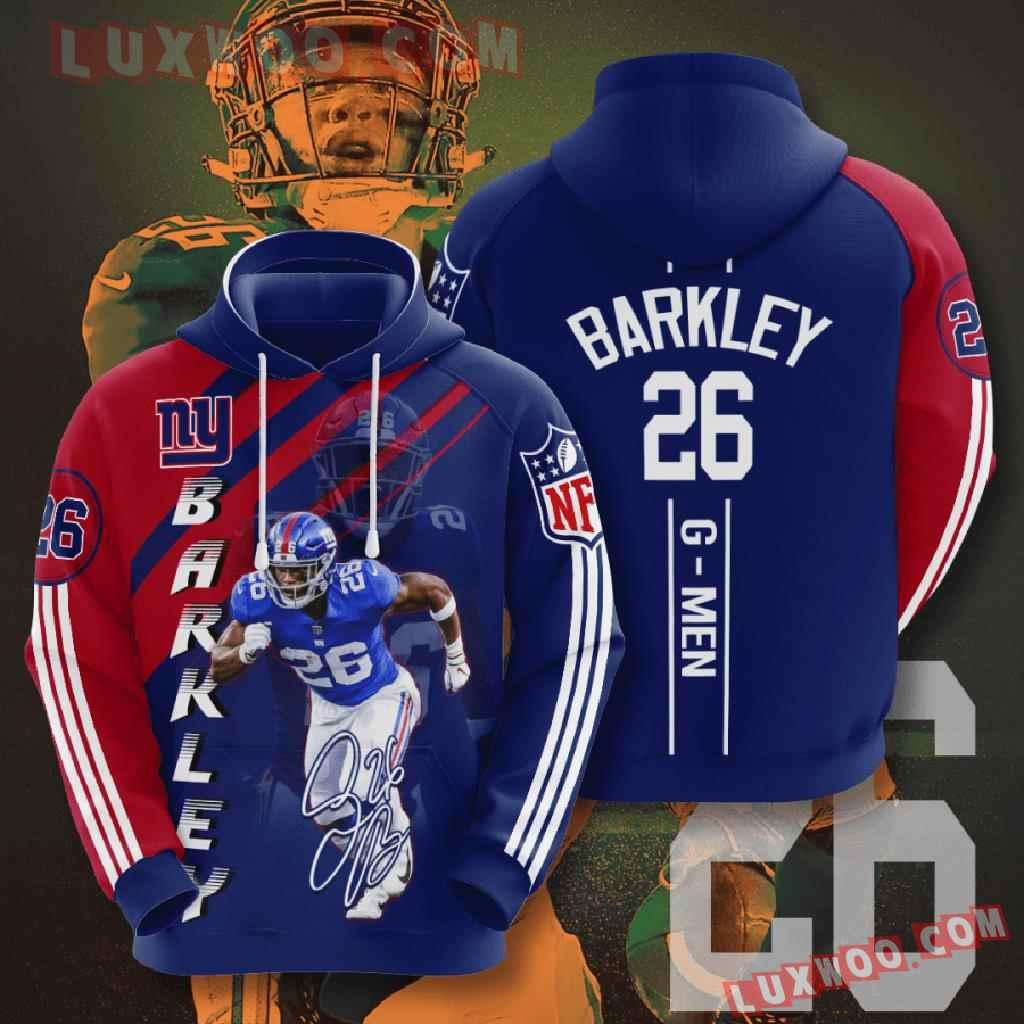 Nfl New York Giants 3d Hoodies Printed Zip Hoodies Sweatshirt Jacket V5
