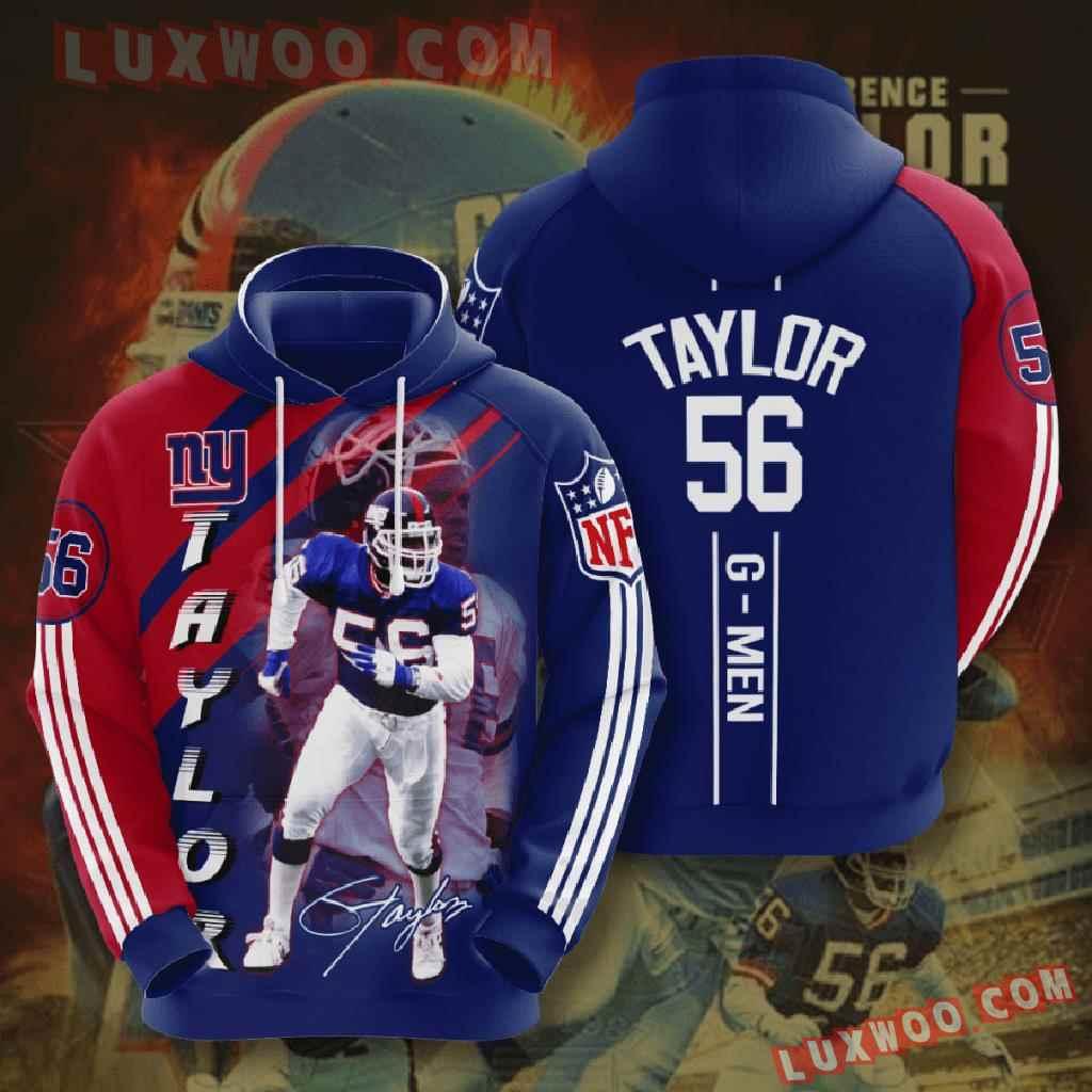 Nfl New York Giants 3d Hoodies Printed Zip Hoodies Sweatshirt Jacket V7