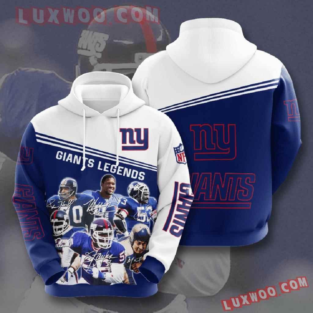 Nfl New York Giants 3d Hoodies Printed Zip Hoodies Sweatshirt Jacket V9